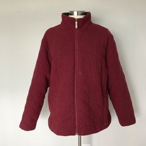 Woolrich Womens Extra Large Red Wool Jacket